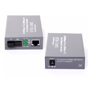 Transceiver Optico Ethernet 10/100 Pareja A-b Monomodo 25km