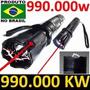 Lanterna Policial Com Coldre Police Tática Choque 990.000 Kv