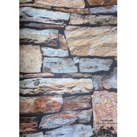 Papel Tapiz Piedra, Rollo Grande De 15m2 (cada 5mts $800)