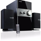 Home Theater 2.1 Noga Rossell 50w Bluetooth Madera Parlante