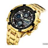 Relógio Masculino Amuda Gold Aço Inoxidável