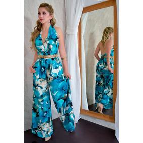Palazzo Para Mujer Con Estampado En Color Azul