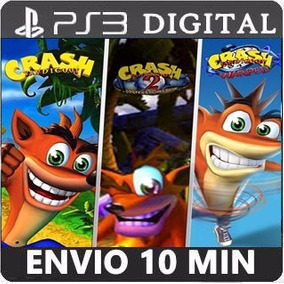 Crash Bandicoot 1 2 3 Trilogia Promoção Ps3 Digital