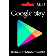 Google Play Store Gift Card R$45 Reais Android