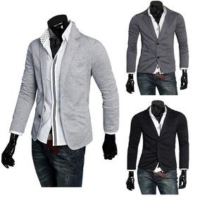 Blazers De Algodon Abotonados Para Vestir 3 Colores