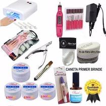 Kit Unha Gel Acrigel + Cabine + Lixa + Kit Gel Acrygel Unhas