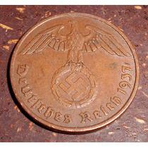 Alemania Nazi Espectaculares 2 Reichspfenig 1937 A T. Reich