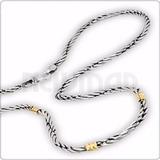 Cadenas De Plata 925 Y Oro 18 Kilates - Soga H0 Mujer Hombre