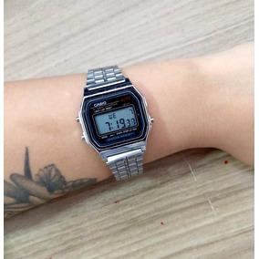 d0ca8dc4e5e Relógio Casio Retro Prata Réplica Feminino - Relógios no Mercado ...