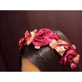Tiara Florida Rosas Tecido Arranjo Para Cabelo Mãe Da Noiva