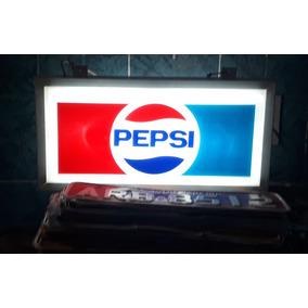 Placa Letreiro Luminoso Pepsi Cola Original Antigo Ñ Coca