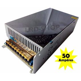 Fonte Estabilizada 12v 50a Som Modulo Automotivo Bateria.