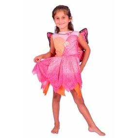 Disfraz Barbie Mariposa Color Rosa Original New Toys
