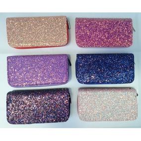 Cartera Dama Precios De Fábrica Monedero Textura Glitter