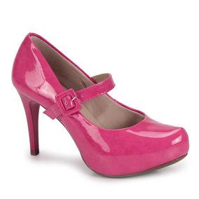 Sapato Boneca Salto Feminino Lara - Pink