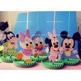 Enfeite Centro Mesa Disney Baby Mickey Bebe Minnie 25 Unid