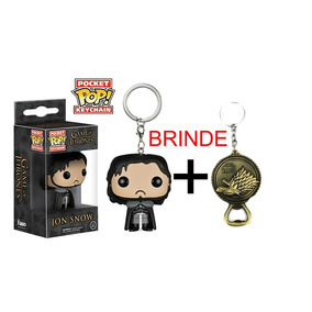 Chaveiro Jon Snow - Game Of Thrones Pop! Funko + Brinde