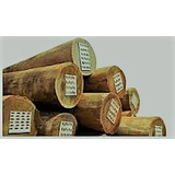 Poste Curado Cca De Eucaliptus 12 A 15 Cm Excelente Calidad