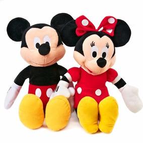 3 Pelucias, Sendo Mickey E Minnie Vermelha + Pluto + Brinde