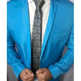 Terno Slim Conte Italiano Azul Celeste
