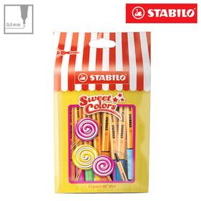 Kit Canetas Stabilo Point 88 Mini Sweet Colors 15 Unid