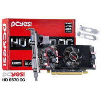 Placa Video Pcyes Radeon Hd 6570 2gb Ddr5 128-bits Amd Low P