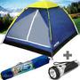 Barraca Camping 4 Pessoas Tipo Iglu Mor Acampamento + Brinde