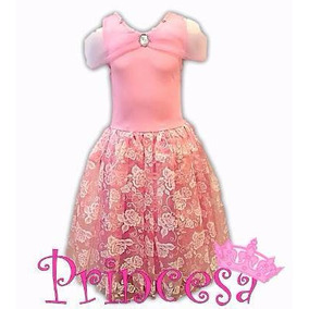 Fantasia Princesa Aurora Bela Adormecida Luxo + Brinde 2741