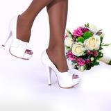Peep Toe Up Shoes Salto 12cm E 10cm Para Noivas!! Lindo!!205