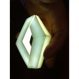 Luz Emblema Rombo Renault Led Blanco Universal 9 Cm X 7 Cm