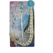 Kit Acessorios Luva Trança Coroa Elsa Frozen Novo
