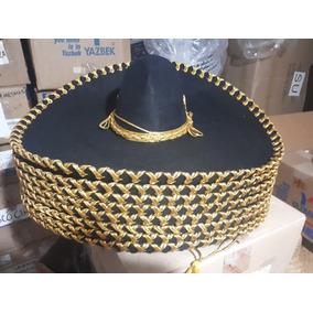 8 Sombrero Charro Negro Plata Oro Adulto Festival Mayoreo 5dd021c95290