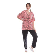 Pijama De Mujer Talle Grande Remera Abotonada + Pantalon 624