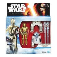 Star Wars R2-d2 Y C-3po Lanza Misiles Articulados Original