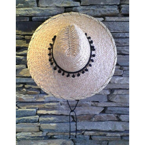 Sombrero Moriche De Tapa Grande Con Popones Negro 0002a2aa977