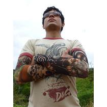 Remate Lote Surtido 4 Par De Mangas Tatuajes Tattoo Moda In