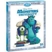 Monster University De Disney Pixar En Bluray 3d Nuevo Omm
