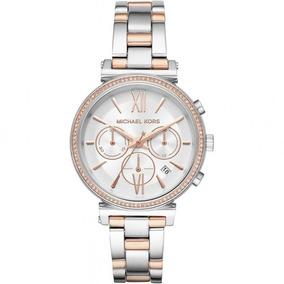 ddb18ed15ab Relogio Michael Kors Branco Cronografo Oversized Mk 5379 - Relógios ...