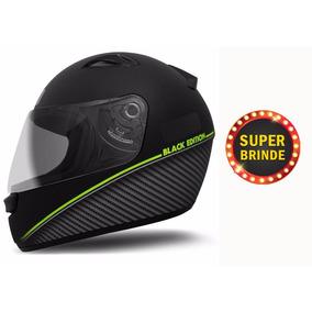 Capacete Ebf New Spark Masculino Moto Fosco Preto + Brinde