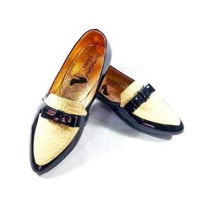 Baletas Charol Homeland Shoes Negro-beige
