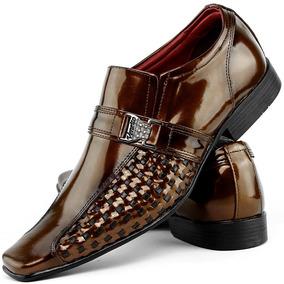 282f81f8479fd Sapato Social Masculino Brilhoso - Sapatos Laranja no Mercado Livre ...