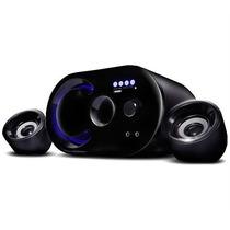 Caixa De Som 2.1 Bluetooth 16w Rms Fm Subwoofer Usb Micro Sd