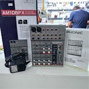 Mesa De Som Phonic Am105fx Com Efeitos 6 Canais 110volts