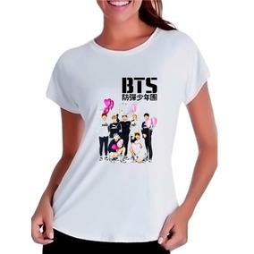 Camisetas Baby Look Kpop Bangtan Boys Bts Heart Integrantes