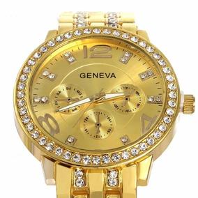 Relógio Feminino Original Quartz Da Marca Geneva