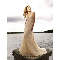 Delicado Vestido De Novia Importado Nuevo Talle6,8 En Stock
