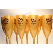 20 Taças Acrilicas Bodas De Ouro Lembrança