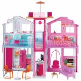 Casa De Pueblo Barbie Amueblada Grande Niñas Mattel 90x60