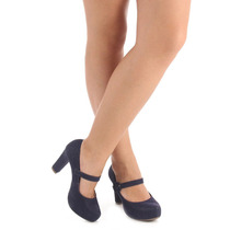 Sapato Boneca Salto Feminino Lara - Marinho