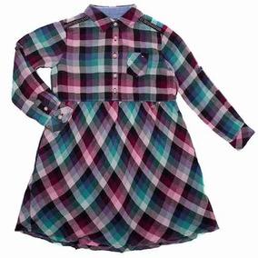 Vestido A Cuadros Gingham Para Niña 002 Tommy Hilfiger 00913